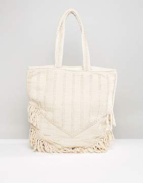 Raga Toes In The Sand Fringed Tote Beach Bag