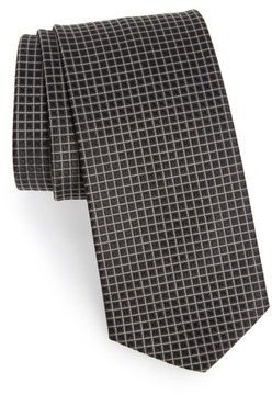 BOSS Men's Grid Silk Tie