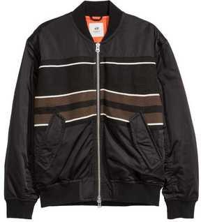 H&M Jacquard-Pattern Bomber Jacket