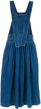 Chloé denim pinafore midi dress