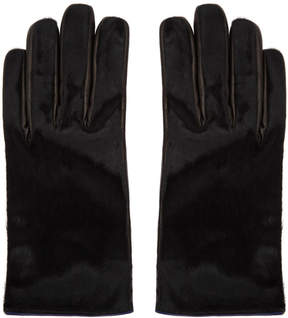 Paul Smith Black Calf Hair Gloves