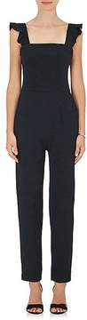 Barneys New York Women's Ruffle-Trimmed Crepe Jumpsuit