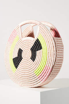 Indego Africa Ellie Neon Woven Circle Clutch