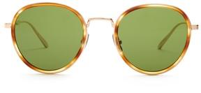 Bottega Veneta Round-frame tortoiseshell glasses