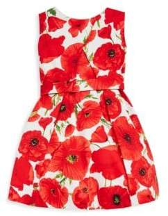 Helena and Harry Toddler's, Little Girl's& Girl's Red Poppies Dress