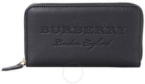 Burberry Leather Ziparound Wallet- Black