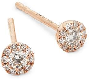 Ef Collection Women's Mini Rose Gold Stud Earrings