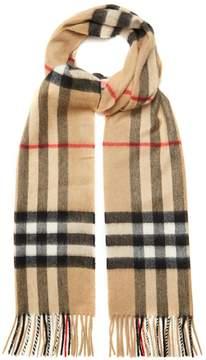 BURBERRY Classic House-check cashmere scarf