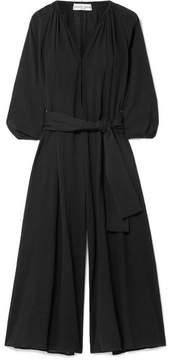 Apiece Apart Las Isla Cropped Cotton-gauze Jumpsuit - Black