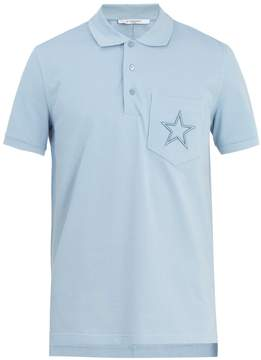 Givenchy Cuban star-embroidered cotton polo shirt
