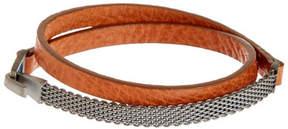 Miansai Moore Half Mesh Leather Wrap Bracelet