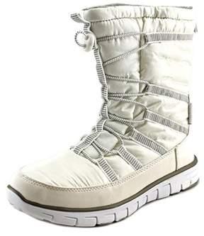 Khombu Alta Women Round Toe Synthetic White Snow Boot.