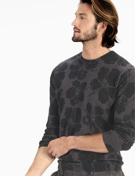 Lucky Brand FLORAL CREW SWEATER