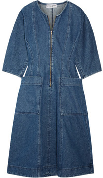 Apiece Apart Fernwood Denim Midi Dress - Blue