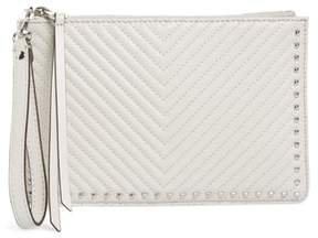 Rebecca Minkoff Quilted Leather Wristlet Pouch - GREY - STYLE