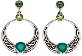 Celtic Nicky Butler Collection Green Chalcedony and Gem Knot Earrings