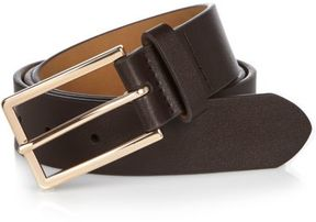 River Island Mens Dark brown leather-look belt