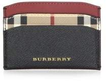 Burberry Soft Grain Leather Card Case - BLACK - STYLE