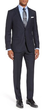 BOSS Men's Novan/ben Trim Fit Stripe Wool Suit