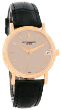 Patek Philippe Calatrava 3802R 18K Rose Gold Automatic 33mm Mens Watch