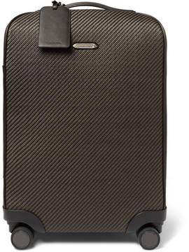Ermenegildo Zegna Pelle Tessuta Leather Carry-On Suitcase