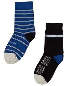 BOSS Pack of 2 Black and Blue Branded Socks