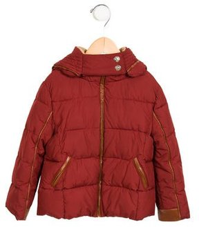 Chloé Girls' Hooded Puffer Coat