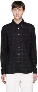 Saturdays NYC Black Crosby Flannel Shirt