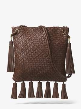 Michael Kors Hutton Woven Leather Tassel Crossbody - BRANCH - STYLE