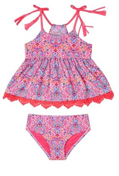 Hula Star Toddler Girl's Pretty Paisley Two-Piece Swimsuit