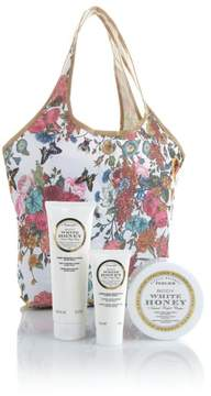 Perlier White Honey 3-piece Kit with Floral Tote