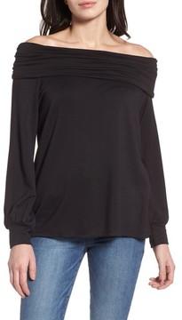 Caslon Women's Convertible Neck Sweatshirt