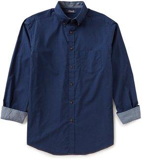Roundtree & Yorke Casuals Big & Tall Long-Sleeve Fleck Sportshirt