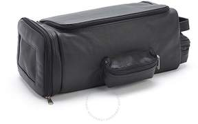 Royce Leather Royce Luxury Handcrafted Leather Travel Golf Shoe and Accessory Bag - Black