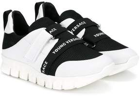 Versace logo touch straps sneakers