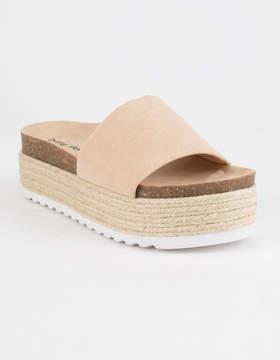 Chinese Laundry Pippa Espadrille Tan Womens Platform Sandals