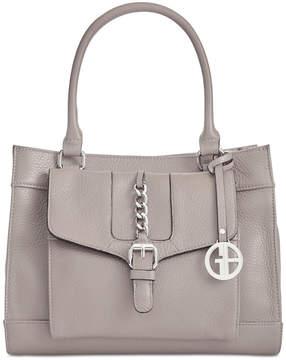 Giani Bernini Pebble Leather Satchel, Created for Macy's