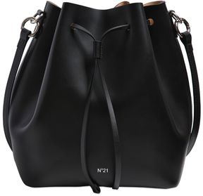 Shiny Leather Bucket Bag