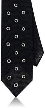 Drakes Drake's Men's Circle-Embroidered Silk Necktie