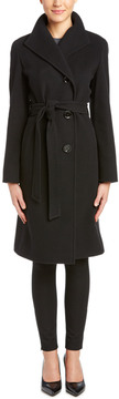 Cinzia Rocca Single Breasted Wool-Blend Coat