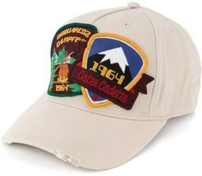 DSQUARED2 patchwork baseball cap