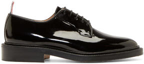 Thom Browne Black Patent Leather Derbys
