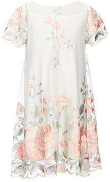 Bonnie Jean Big Girls 7-16 Floral-Embroidered Dress