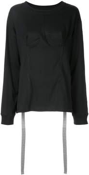 Facetasm slit back bustier sweatshirt