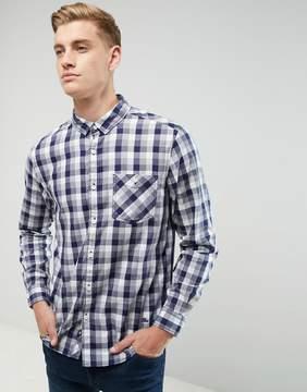 Esprit Shirt In Regular Fit Check Cotton