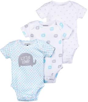 Petit Lem Blue 'Little Love' Elephant Bodysuit Set - Infant