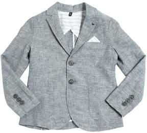 Armani Junior Cotton & Linen Blend Jacket