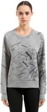 Burberry Graffiti Printed Neoprene Sweatshirt