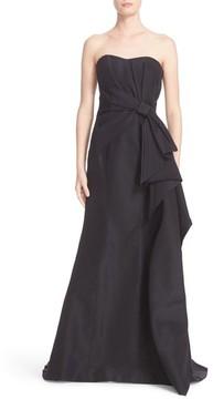 Carolina Herrera Women's Bow Detail Strapless Silk Faille Gown
