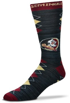 For Bare Feet Men's Florida State Seminoles Fan Nation Crew Socks